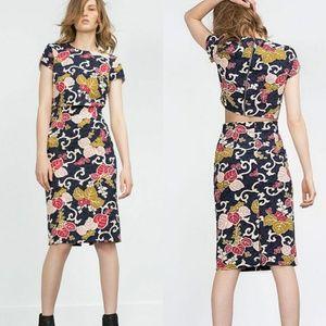 🆕️ZARA - floral crop top
